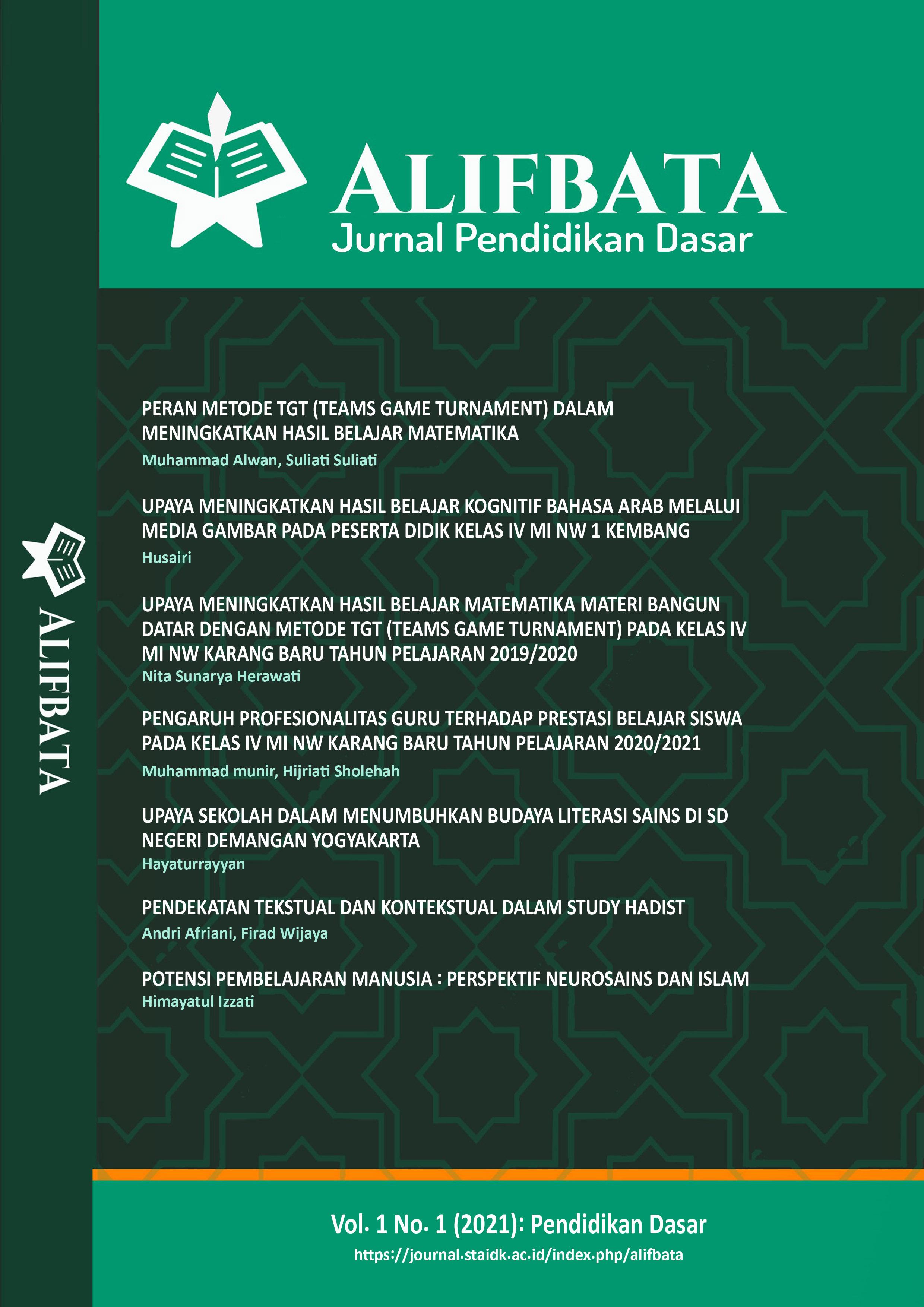View Vol. 1 No. 1 (2021): Pendidikan Dasar